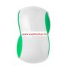 Detangler Grip hajkibontó fésű zöld-fehér