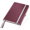 Leitz Jegyzetfüzet, A5, kockás, 80 lap, keményfedeles, LEITZ Style, gránátvörös (E44860028)