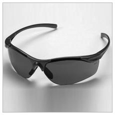UV szűrős polikarbonát szemüveg sötét lencsével, piros kerettel