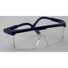 Polikarbonát víztiszta látogatói szemüveg fekete állítható kerettel