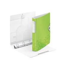 """Leitz Gyűrűs könyv, 4 gyűrű, D alakú, 52 mm, A4, PP, LEITZ """"Active Wow"""" zöld irodai kellék"""