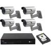 SANAN 4 kamerás SANAN prémium térfigyelő rendszer