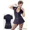Rendőrnő miniruha - fekete