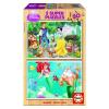 Educa Disney Ariel és Hófehérke fa puzzle, 2x50 darabos
