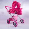 Melobo Nagy Babakocsi táskával sötét rózsaszín, 70 cm