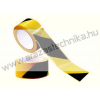 Padlójelölő szalag 75mm×33fm sárga/fekete öntapadós jelölőszalag