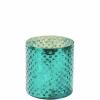 delight mécsestartó 8cm türkiz üveg