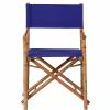 BOLLYWOOD rendezői szék bambusz kék