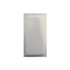 Telone Pocket Slim lefelé nyíló fényes bőrbevonatos fliptok Samsung G800 Galaxy S5 mini-hez fehér* tok és táska