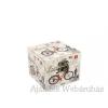 Díszdoboz biciklis kocka 10x10cm