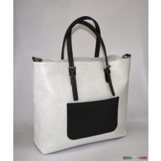 Szögletes fazonú fehér táska