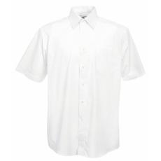 Fruit of the Loom FoL Short Sleeve Poplin Shirt, fehér