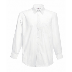 Fruit of the Loom FoL Long Sleeve Poplin Shirt, fehér