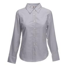 Fruit of the Loom FoL Lady-Fit Long Sleeve Oxford Shirt oxfordszürke