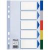 ESSELTE Regiszter, műanyag, A5, 5 részes, ESSELTE, színes (E15264)