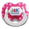 J4K Szilikon játszócumi - pink (2db)