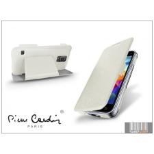Pierre Cardin Samsung SM-G800 Galaxy S5 Mini flipes slim tok - Pierre Cardin DeLuxe Slim Folio - white tok és táska