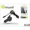 Muvit Nokia/Samsung/LG/HTC/Sony Ericsson/Motorola micro USB szivargyújtós gyorstöltő 1,1 m vezetékkel - 5V/1A - Muvit In-Car Charger - black