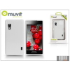 Muvit LG E460 Optimus L5 II hátlap - Muvit miniGel - white