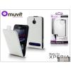 Made for Xperia MUVIT Sony Xperia E1 flipes tok - Made for Xperia Muvit Slim - white