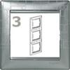 Valena-keret alumínium-négyzetmintás, függőleges, (3-as)