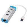 iTec USB 3.0 HUB 3-port Metal + Gigabit Ethernet adapter