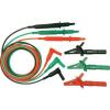 Cliff Biztonsági mérővezeték készlet [ dugó 4 mm - ellenőrzőhegy] 1.5 m zöld, piros, fekete Cliff CIH29916