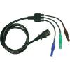 Cliff Biztonsági mérővezeték [ dugó 4 mm - hidegkészülék alj C13] 1.5 m kék, zöld, barna Cliff CIH29920