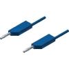 Mérővezeték [ lamellás dugó 4 mm - lamellás dugó 4 mm] 0.25 m kék SKS Hirschmann MLN 25/2,5 bl