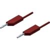 Mérővezeték [ lamellás dugó 4 mm - lamellás dugó 4 mm] 0.25 m piros SKS Hirschmann MLN 25/2,5 rt