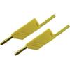 Mérővezeték [ lamellás dugó 4 mm - lamellás dugó 4 mm] 0.5 m sárga SKS Hirschmann MLN 50/2,5 Au sárga
