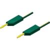 Mérővezeték [ lamellás dugó 4 mm - lamellás dugó 4 mm] 2 m sárga SKS Hirschmann MLN 200/2,5 Au sárga/gruen