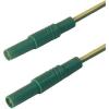 Biztonsági mérővezeték [ lamellás dugó 4 mm - lamellás dugó 4 mm] 0.5 m sárga SKS Hirschmann MLS GG 50/2,5 ge/gn