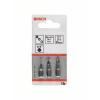 Bosch Csavarozó bit készlet extrakemény, 3 részes, PZ1, PZ2, PZ3, 152 mm Bosch 2607001762 hossz:25 mm