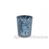 Üveg mécsestartó kék 7cm