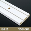 Fa betétes műanyag karnis (GE2) - 2 soros - 150 cm