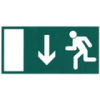 Menekülési útirányt jelző tábla - le