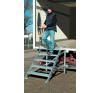 KRAUSE - Gurítható lépcső dobogóval, 600 mm munkamagasság 2,6 m létra és állvány