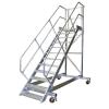 KRAUSE - Ipari lépcső dobogóval, gurítható 800mm 60° 8 fokos