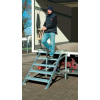 KRAUSE - Gurítható lépcső dobogóval, 1000 mm munkamagasság 2,4 m