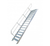 KRAUSE - Ipari lépcső 1000mm 60° bordázott alu fokkal 10 fokos létra és állvány