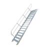 KRAUSE - Ipari lépcső 800mm 60° bordázott alu fokkal 18 fokos létra és állvány