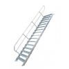 KRAUSE - Ipari lépcső 600mm 45° bordázott alu fokkal 12 fokos