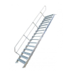 KRAUSE - Ipari lépcső 600mm 45° bordázott alu fokkal 5 fokos
