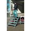KRAUSE - Gurítható lépcső dobogóval, 1000 mm munkamagasság 2,8 m