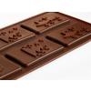 Karácsonyi szilikon csokoládé forma