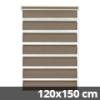 Easy fix doppel roló, mokka, ablakra: 120x150 cm