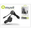 Nokia/Samsung/LG/HTC/Sony Ericsson/Motorola micro USB szivargyújtós gyorstöltő 1,1 m vezetékkel - 5V/1A - Muvit In-Car Charger - black