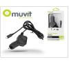 Nokia/Samsung/LG/HTC/Sony Ericsson/Motorola micro USB szivargyújtós gyorstöltő 1,1 m vezetékkel - 5V/1A - Muvit In-Car Charger - black mobiltelefon kellék