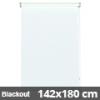 Blackout roló, fehér, ablakra: 142x180 cm